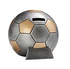 Geschenk Fußball-Spardose silber/gold ST39374 (d=13 cm) inkl.Gravur 17,95 EUR