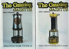 2 revues lampe de mineur The Gauzing Gazette n°s 9 + 10 2014 charbonnage mine