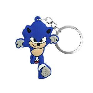 Sonic Hedgehog Toy Keyring Bagcharm Keychain Zip puller Rubber Gift Bag PVC