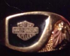 Fine Harley Davidson 10K Yellow Gold Men's Ring Sleek Father's Day Gift Sz 10.5