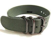 22mm Grey NEW style Stainless Men's watch Nylon band strap Sport Classic