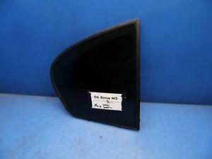 06-10 BMW 5 Series E60 M5 OEM Rear Right side corner window glass *seal wear