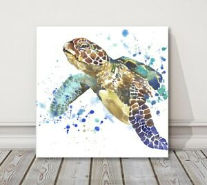 sea turtle painting canvas picture print modern art