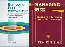 2 Hardcover Computer Books! Software Process Improvement & Managing Risk
