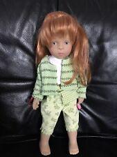 Gotz Doll By Sylvia Natterer Dressed In Green. Rare