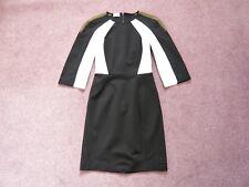 Philosophy NEW stretch/bodycon dress Colourblock Exposed zip Cost £700 UK 6