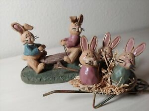 Bunny Family Playground 2 Pcs Easter Country