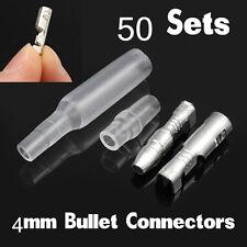 200pcs 4mm Car SUV Bullet Crimp Terminal Wire Connectors Male & Female Socket