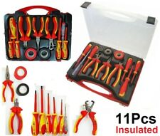 11PCS Electricians Screwdriver Set Electrical Fully Insulated Tool w/ Kit Case