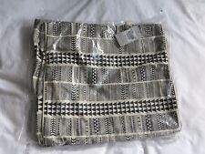 BLACK/ BEIGE LARGE CANVAS BEACH BAG - BRAND NEW