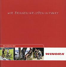 Prospekt Winora Bike Collection 2007 Fahrradprospekt Fahrrad Broschüre Katalog c