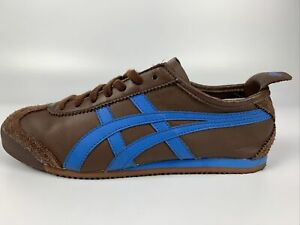 New Asics Onitsuka Tiger Mexico 66 Brown / Blue Men's Size 8 Rare Colorway!