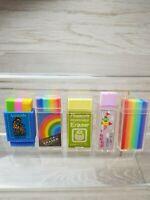 Vintage Rainbow pineapple Fairyland House Block eraser lemon co japan Kawaii