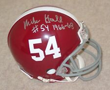 MIKE HALL Signed/Autographed ALABAMA CRIMSON TIDE Mini Helmet 1968 AA w/COA