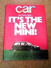 CAR MAGAZINE NOV-1978 - BMW 730 E23, Opel Senator 3.0E, AC Cobra, Citroen GS