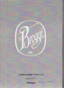 ABERT BROGGI 1818 - LISTINO PREZZI - DETTAGLIO - IN ITALIANO E IN INGLESE