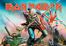 Iron Maiden Fahne Flagge The Trooper Posterfahne Posterflagge Textilposter flag