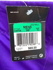 NWT NIKE TEAM Men's Football Pants Adult Purple MSRP $65 535705 545 Size XL