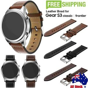 New Replacement Leather Watch Strap Band For Samsung Gear S3 Classic/Frontier AU