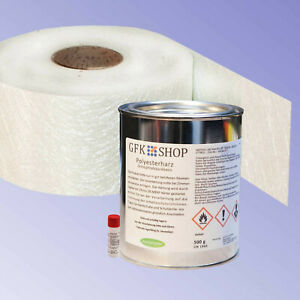 Reparaturharz 500 g Polyesterharz GFK Glasfasermatte SET 500 g original gfk-shop
