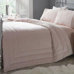 Gloria By Caprice Home Velvet Bedspread/Throw Blush 150 x 220cm