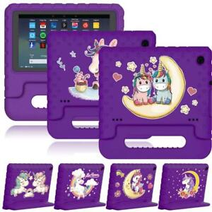For Amazon Kindle Fire 7/HD 8 inch - Unicorn Series EVA Handle Stand Cover Cases
