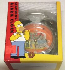 The SIMPSONS Homer Simpson Duff Daddy Alarm Clock From Wesco New in Box