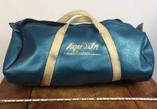 Rare Vintage 50s Blue Leather Aqua Jr. Duffle Bag Sports Swim Surf Scuba Case