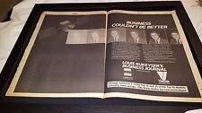Louis Rukeyser Business Journal Rare Original Viacom Promo Poster Ad Framed!