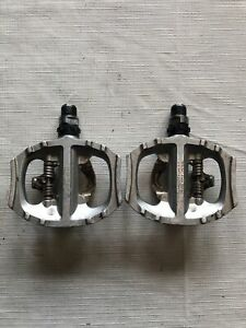 """Shimano PD-A530 Dual Sided Clipless / Platform Pedals SPD 9/16"""" - Silver"""