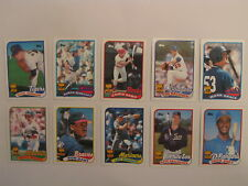 1989 Topps BASEBALL ALL-STAR ROOKIE 10-card Complete Set NEW