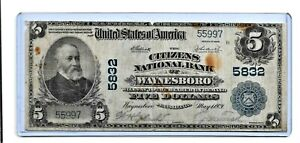 1902-FIVE DOLLAR  NATIONAL BANK NOTE
