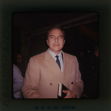 ROSSANO BRAZZI CANDID IN OVERCOAT ORIGINAL SUPER 127 FORMAT SLIDE TRANSPARENCY