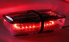 RED MINI LIGHT BAR SMD LED SUPER BRIGHT FLASH WARNING FIRE ROOF BEACON STROBE