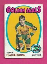 1971-72 TOPPS # 106 SEALS TONY FEATHERSTONE ROOKIE  EX CARD (INV# A7990)