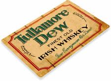 Tullamore Dew Irish Whiskey Logo Retro Rustic Wall Art Decor Bar Metal Tin Sign