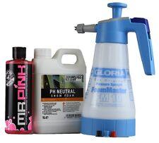 Gloria FM 10 foam Master+ ValetPro Snow Foam 1Liter+ Chemical Guys Mr Pink 473ml