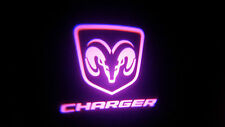 2PC PINK CHARGER 5W LED EMBLEM DOOR PROJECTOR GHOST SHADOW PUDDLE LOGO LIGHT