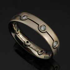 Furrer Jacot Womans 18K White Gold Band with Diamonds