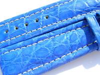 22mm Breitling Band 22/18 Croco blau blue Strap für Dornschliesse 008-22