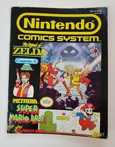 Nintendo Comics System #2 1990 Valiant Zelda Mario Brothers Video Games