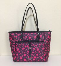COACH City Tote W/ Pouch in PRAIRIE CALICO FLORAL PRINT  F57283 (Midnight/Pink)