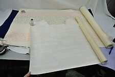 VINTAGE WALL PAPER, TWO PARTIALLY USED ROLLS, 2 PATTERNS