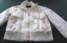HEAD USA VTG ski jacket sz 12 THINSULATE fill BOMBER style IVORY 100% cotton EUC