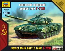 Zvezda 1/100 Soviet Main Battle Plastic Model Tank T-72B # 7400 - Plastic Mod...