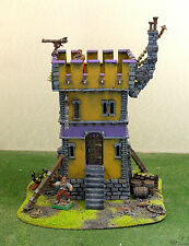 """WARHAMMER WAR GAME SCENERY """"WATCH TOWER and ruinsI"""" PRO PAINTED"""