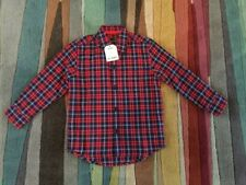 BNWT Boys NEXT red Navy Check Smart Occassion Shirt Age 4 Years, TWINS
