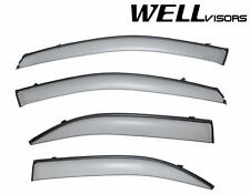 For 03-09 Kia Sorento WellVisors Side Window Deflectors Visors W/Black Trim