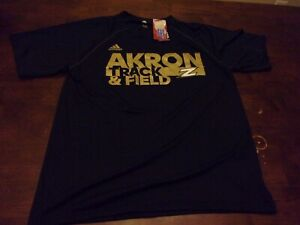 Akron Zips NEW mens Adidas small Climalite t shirt Track and Field