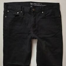 Mens Gap Black Stretch Skinny Faded Jeans Size W34 L32 [494]
